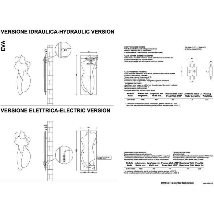 Дизайн радиатор отопления HOTECH Eva