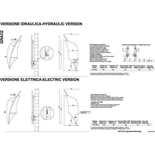 Дизайн радиатор отопления HOTECH Grace