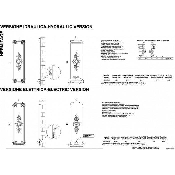 Дизайн радиатор отопления HOTECH Hermitage