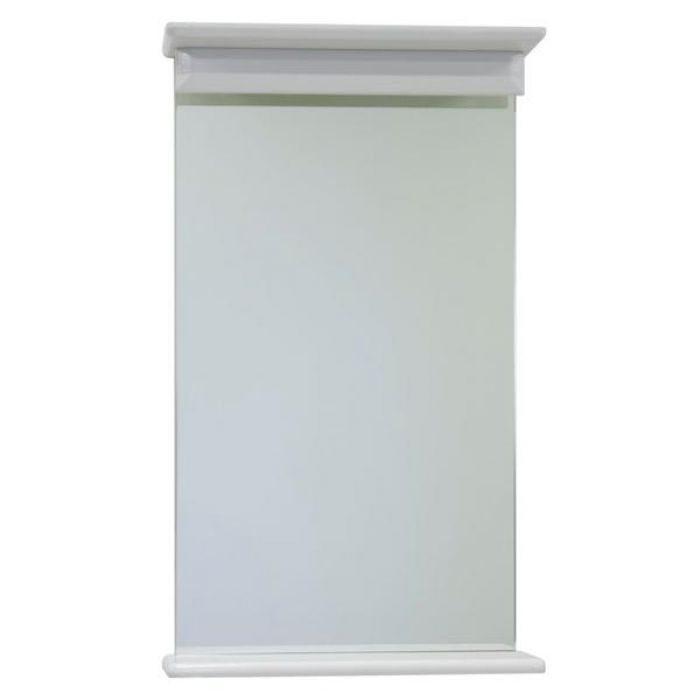 Зеркало с полкой для ванной 45 ВОДОЛЕЙ А+ (цвет белый)