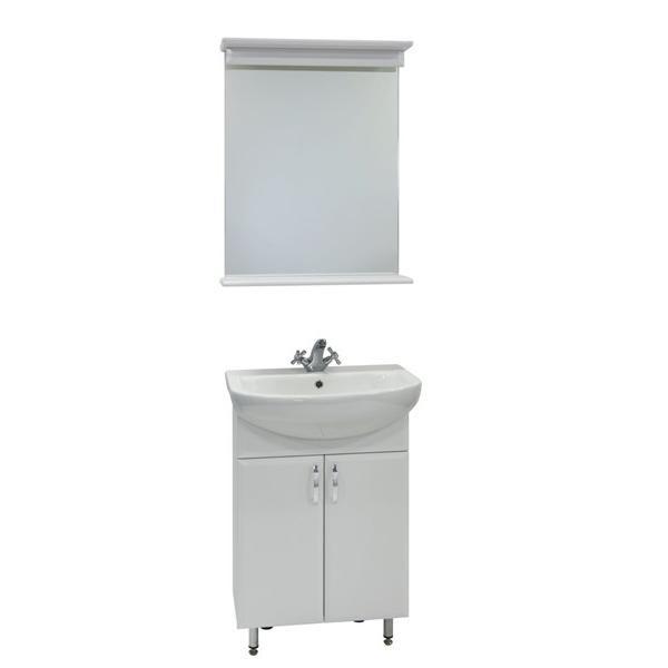 Комплект мебели для ванной комнаты Модерн 60 (цвет белый)