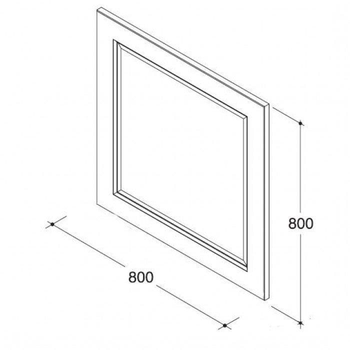 Комплект мебели для ванной комнаты CAPRIGO Альбион 90 (цвет белый с эффектом старения)