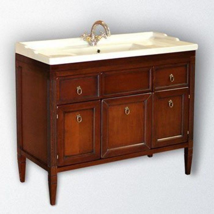 Тумба для ванной с раковиной CAPRIGO Альбион 90 (цвет орех антика)