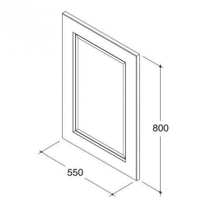 Комплект мебели для ванной комнаты CAPRIGO Альбион 80 (цвет ольха)