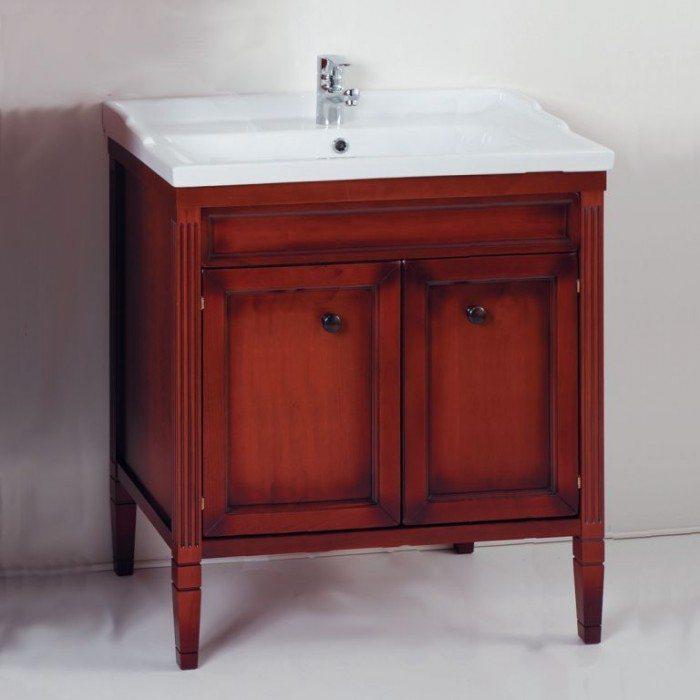 Тумба для ванной с раковиной CAPRIGO Альбион 80 (цвет ольха)