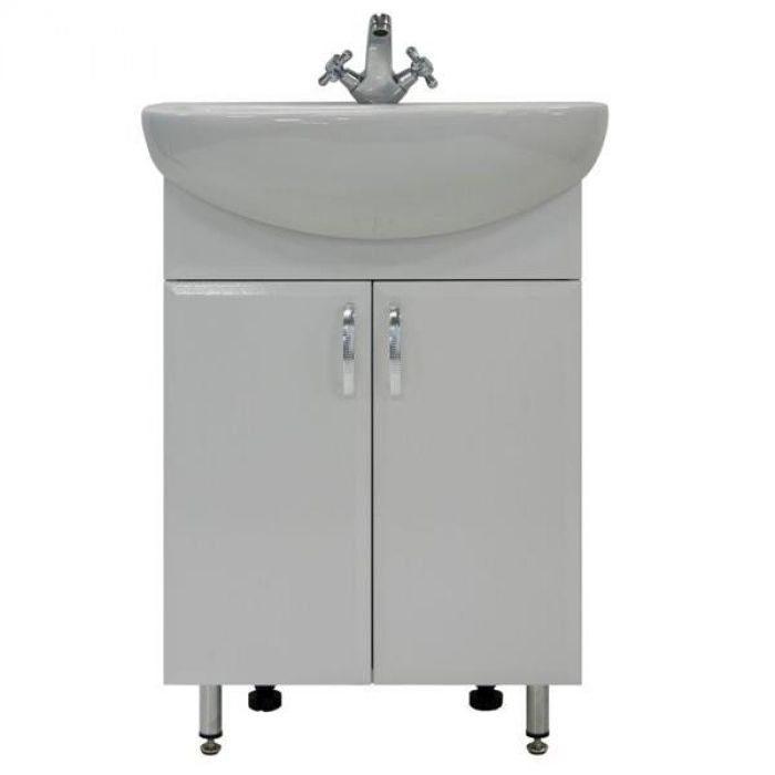 Тумба для ванной с раковиной Модерн 60 (цвет белый)