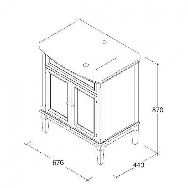 Комплект мебели для ванной комнаты CAPRIGO Джардин 70 (цвет зеленый)