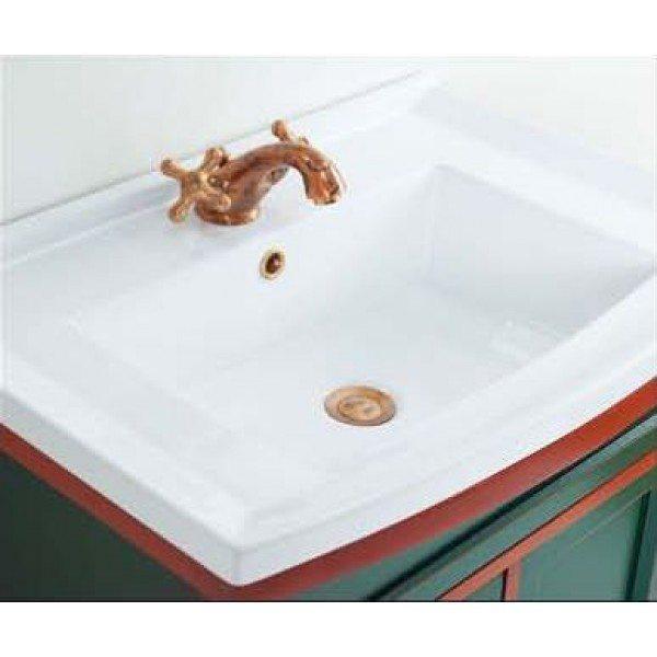 Тумба для ванной с раковиной CAPRIGO Джардин 70 (цвет зеленый)