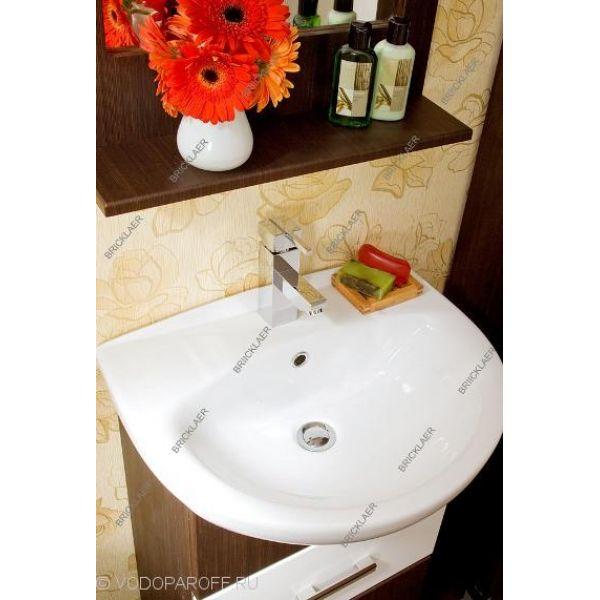 Комплект мебели для ванных бриклаер МАЛЬТА 55 белая