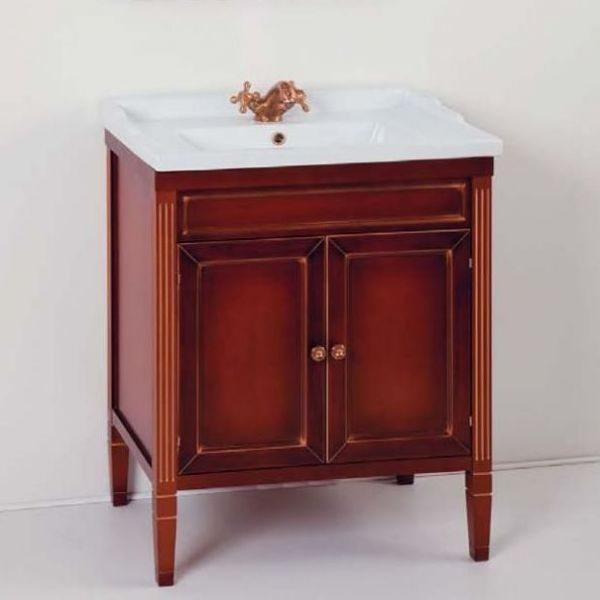 Тумба для ванной с раковиной CAPRIGO Альбион 70 (цвет rosso vino – красное вино)