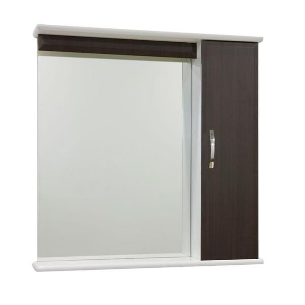 Зеркало для ванной комнаты со шкафом Тунис 75 (цвет венге)