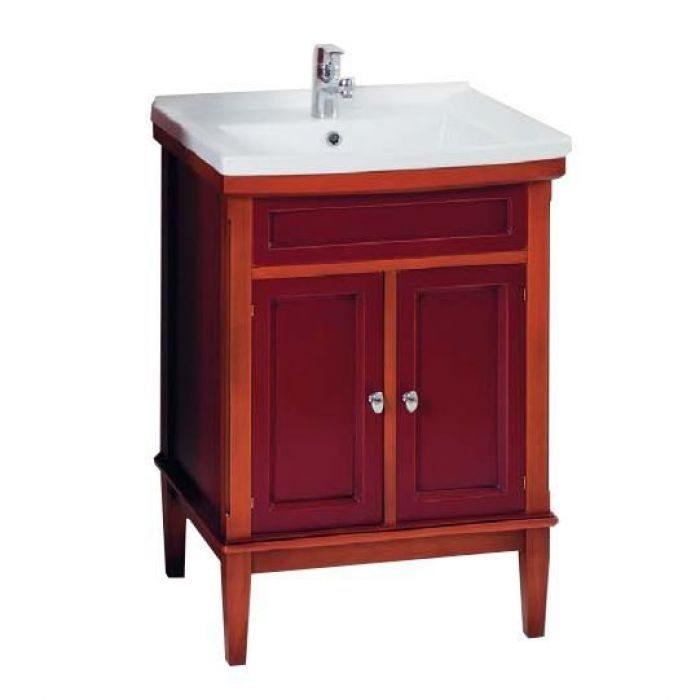 Тумба с раковиной для ванной комнаты CAPRIGO Джардин 60 (ontano rosso vino – ольха, красное вино)