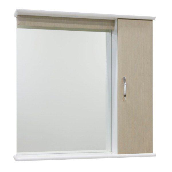 Зеркало для ванной комнаты со шкафом Тунис 75 (цвет дуб)