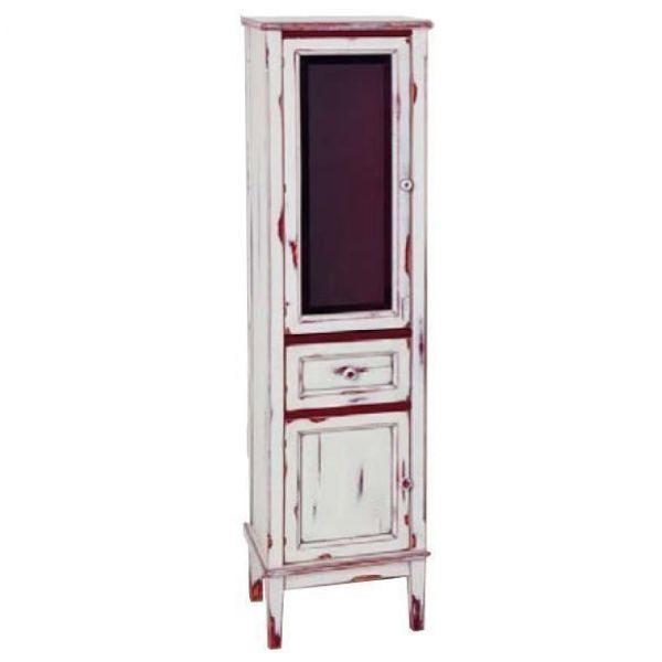 Пенал для ванной комнаты CAPRIGO Джардин (bianco rosso lait vintage – белый с красным, эффект старения)