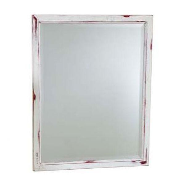 Зеркало для ванной комнаты CAPRIGO Джардин 80/100 (bianco rosso lait vintage – белый с красным, эффект старения)