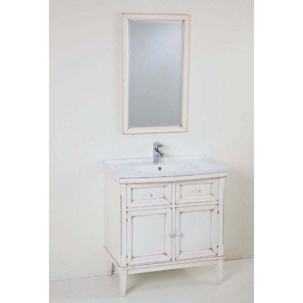 Комплект мебели для ванной комнаты CAPRIGO Джардин 80 (bianco lait vintage – белый, эффект старения)