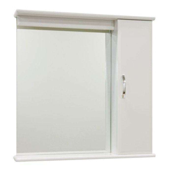 Зеркало для ванной комнаты со шкафом Тунис 75 (цвет белый)