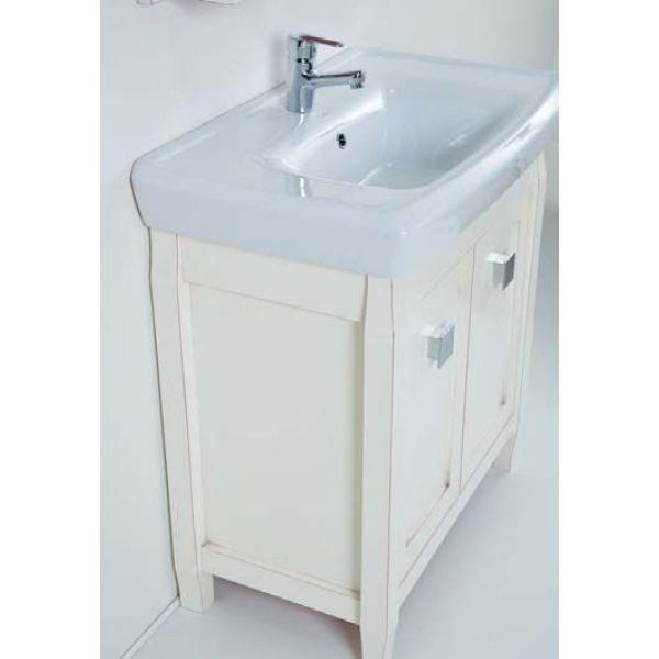 Тумба с раковиной для ванной комнаты CAPRIGO Монако 80 (bianco antico – белый антика)