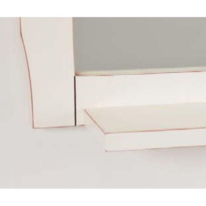 Зеркало с полкой для ванной комнаты CAPRIGO Монако (bianco antico – белый антика)