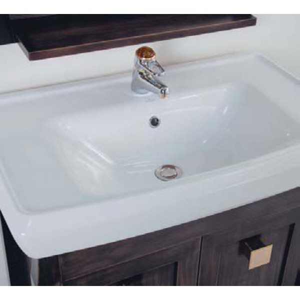 Тумба с раковиной для ванной комнаты CAPRIGO Монако 80 (nero – черный)