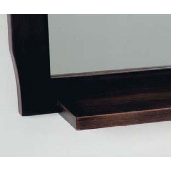 Зеркало с полкой для ванной комнаты CAPRIGO Монако (nero – черный)