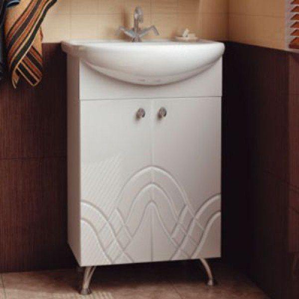 Тумба с раковиной для ванной комнаты ORIO Авелон 50 (цвет белый)