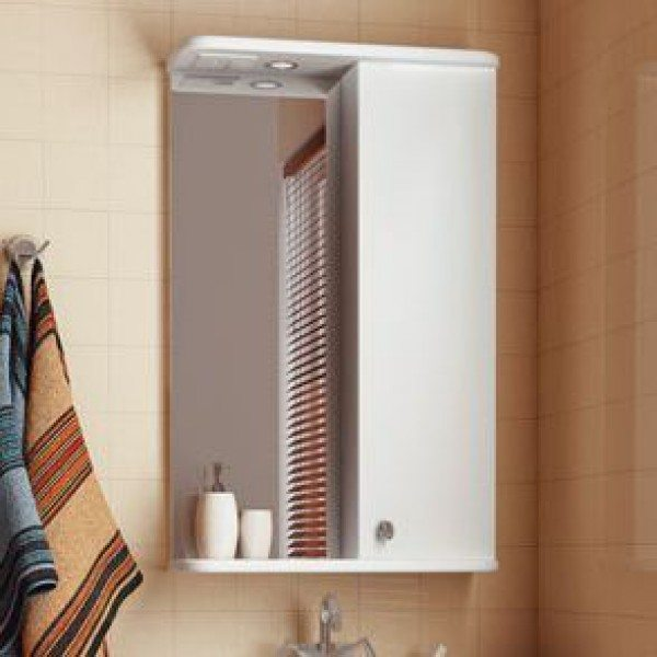 Зеркало для ванной комнаты ORIO Сити 50 (цвет белый)