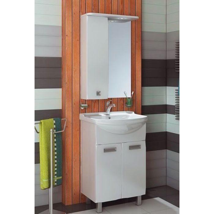 Комплект мебели для ванной комнаты ORIO Альпика 55 (цвет белый)