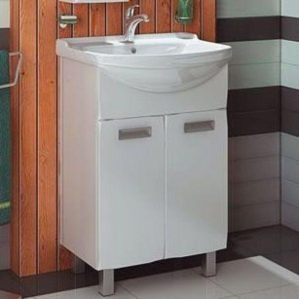 Тумба с раковиной для ванной комнаты ORIO Альпика 55 (цвет белый)