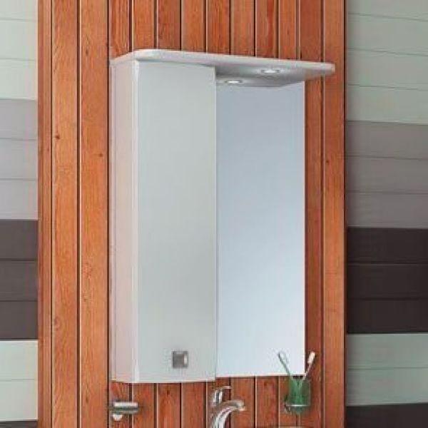 Зеркало для ванной комнаты ORIO Альпика 55 (цвет белый)