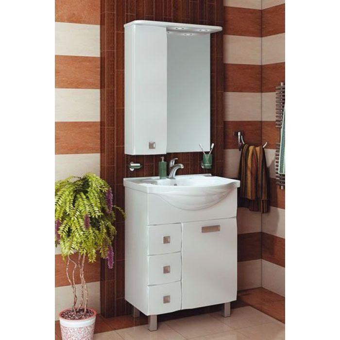 Комплект мебели для ванной комнаты ORIO Альпика 65 (цвет белый)