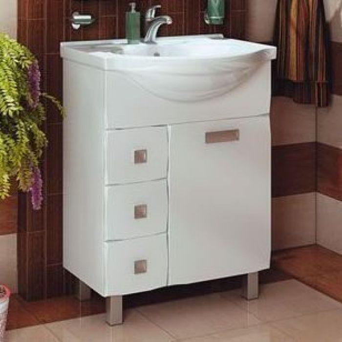 Тумба с раковиной для ванной комнаты ORIO Альпика 65 (цвет белый)