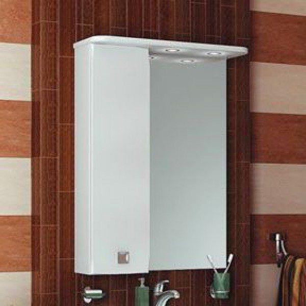 Зеркало для ванной комнаты ORIO Альпика 65 (цвет белый)