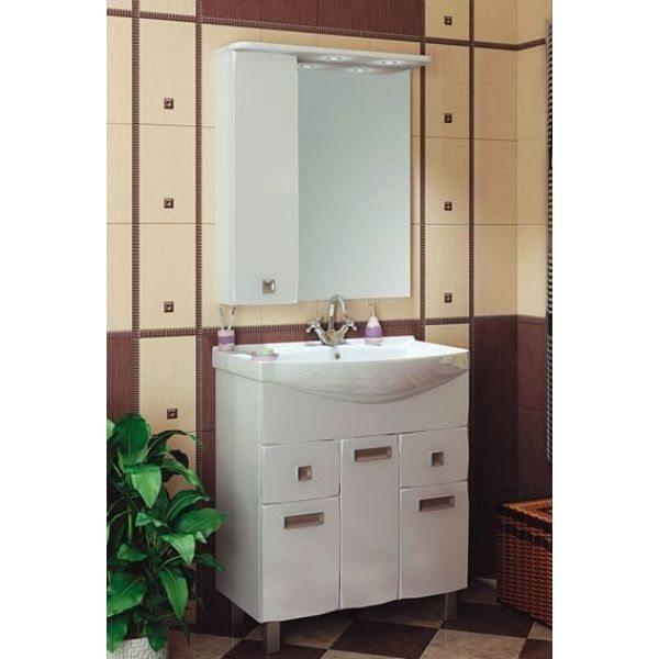 Комплект мебели для ванной комнаты ORIO Альпика 75 (цвет белый)