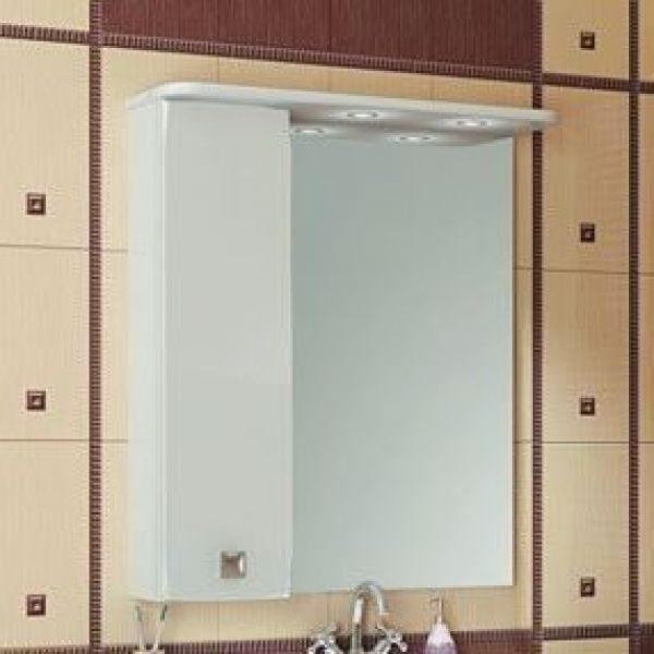 Зеркало для ванной комнаты ORIO Альпика 75 (цвет белый)