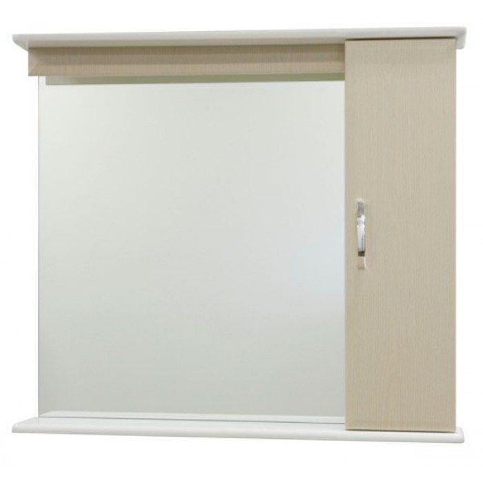 Зеркало для ванной комнаты со шкафом Тунис 85 (цвет дуб)