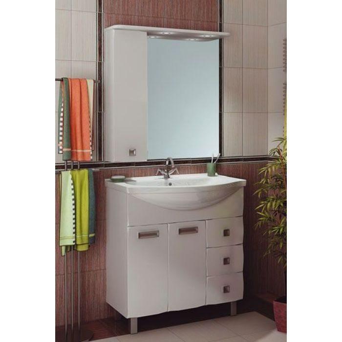 Комплект мебели для ванной комнаты ORIO Альпика 80 (цвет белый)