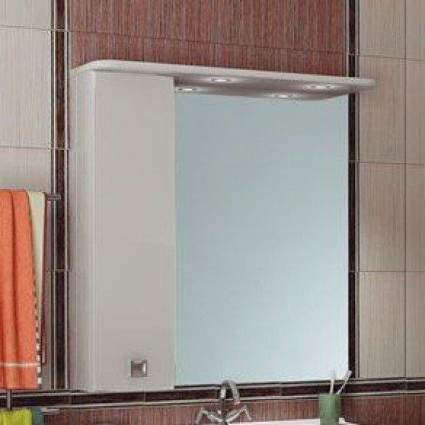 Зеркало для ванной комнаты ORIO Альпика 80 (цвет белый)