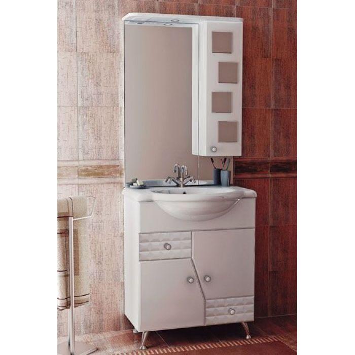 Комплект мебели для ванной комнаты ORIO Кристалл 70 (цвет белый)