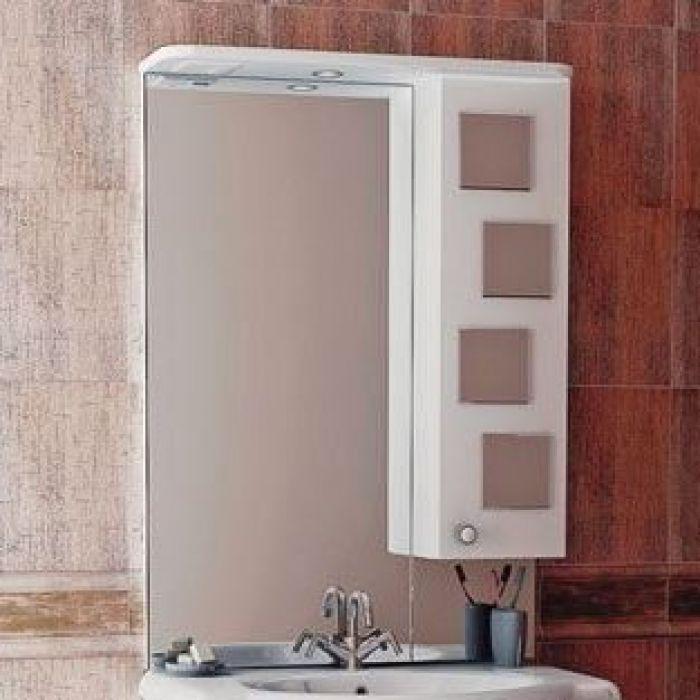 Зеркало для ванной комнаты ORIO Верона 60 (цвет белый)