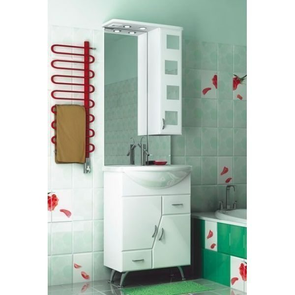Комплект мебели для ванной комнаты ORIO Верона 60 (цвет белый)
