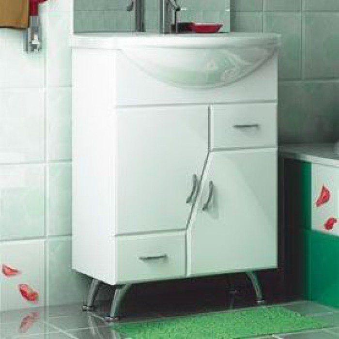 Тумба с раковиной для ванной комнаты ORIO Верона 60 (цвет белый)