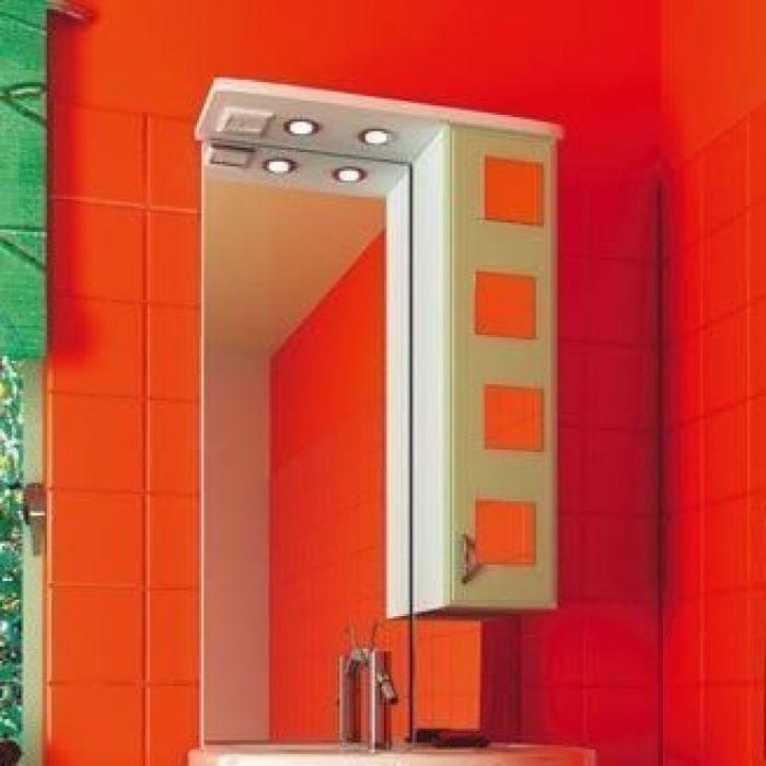 Зеркало для ванной комнаты ORIO Верона 60 (цвет белый с фисташковым)