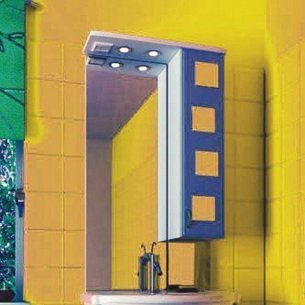 Зеркало для ванной комнаты ORIO Верона 60 (цвет белый с синим)