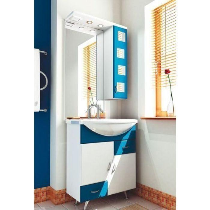 Комплект мебели для ванной комнаты ORIO Верона 70 (цвет белый с синим)