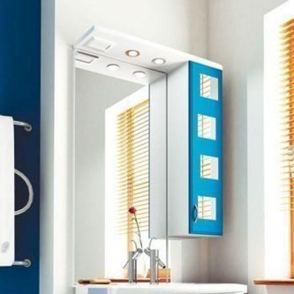 Зеркало для ванной комнаты ORIO Верона 70 (цвет белый с синим)