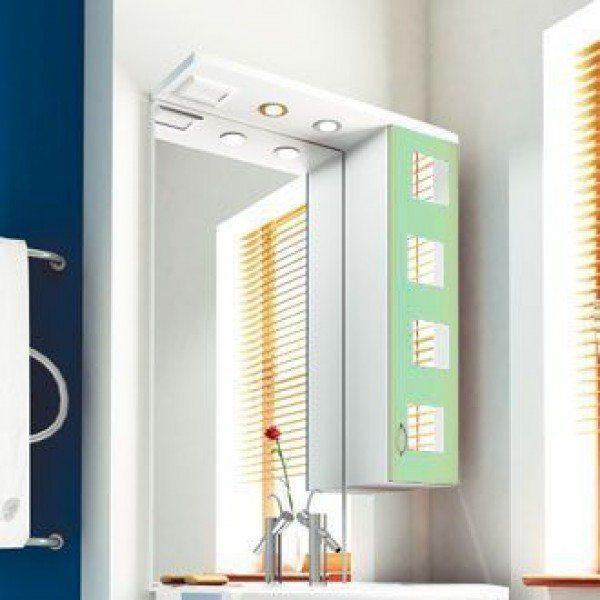 Зеркало для ванной комнаты ORIO Верона 70 (цвет белый с фисташковым)