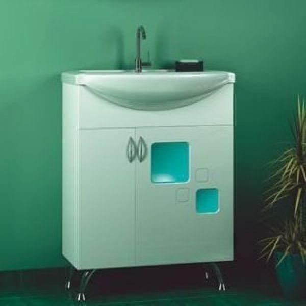 Тумба с раковиной для ванной комнаты ORIO Гера 65 (цвет белый)