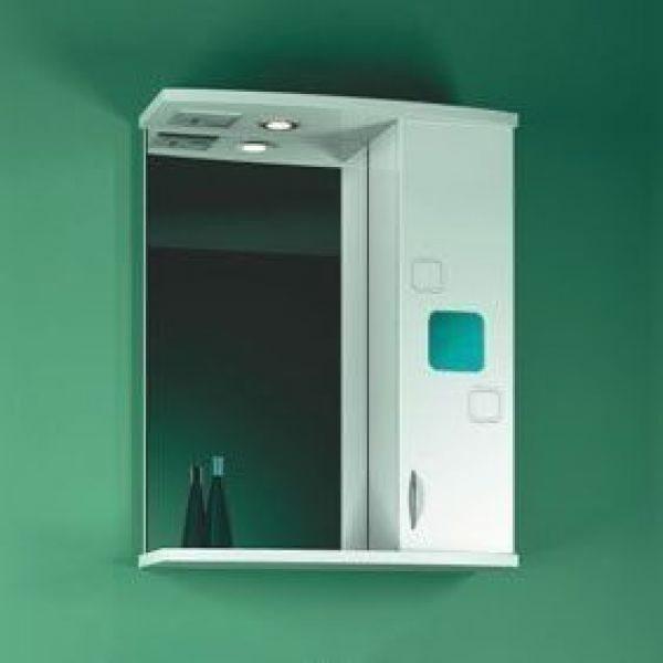 Зеркало для ванной комнаты ORIO Гера 65 (цвет белый)