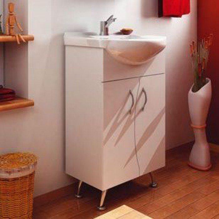 Тумба с раковиной для ванной комнаты ORIO Диана 45 (цвет белый)